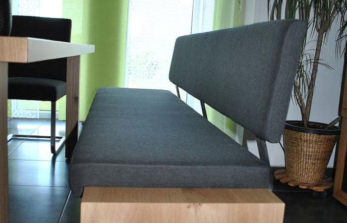 Essbereich - Esstisch - Sitzbank Detail - Wiesner Tischlermöbel