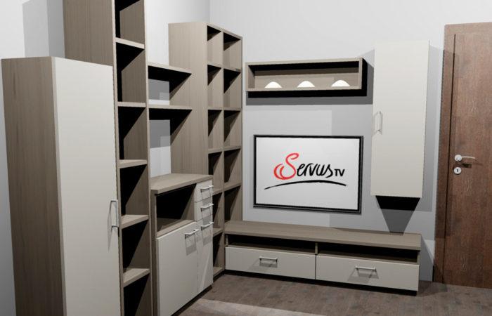 Gästezimmer - 3D Visualisierung - Wiesner Tischlermöbel