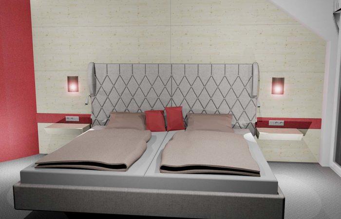 Schlafzimmer - 3D Visualisierung - Wiesner Tischlermöbel