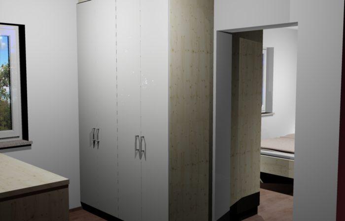 Schlafzimmer - 3D Visualisierung - Schrank - Wiesner Tischlermöbel