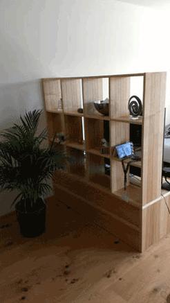 Wohnzimmer - Raumteiler - Wiesner Tischlermöbel
