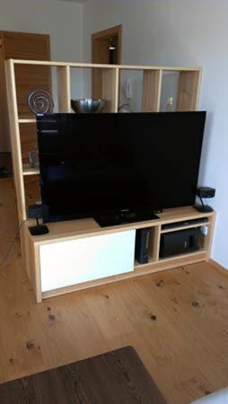 Wohnzimmer- Raumteiler - Wiesner Tischlermöbel