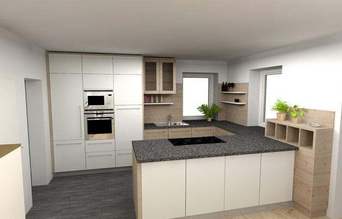 Küche - 3D Visualisierung - Wiesner Tischlermöbel
