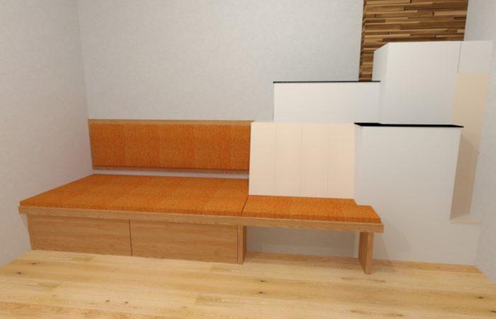 Wohnzimmer - Ofenbank - Wiesner Tischlermöbel
